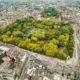 """St. Stephen's Green ist ein Park im Zentrum der Stadt Dublin. Das Bild wurde im """"Indian Summer"""" im Oktober aufgenommen."""